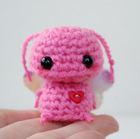 Kawaii Pink Butterfly Mini Amigurumi