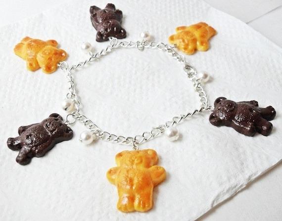 Teddy Graham Crackers Charm Bracelet