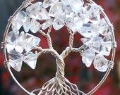 Tree of Life Pendant - Winter - Quartz Rock Crystal