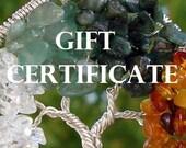 Ethora Custom Tree Gift Certificate
