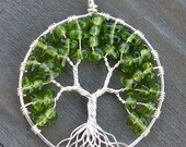 Eco-Friendly Tree of Heaven Pendant - Springtime - Peridot Green