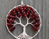 Eco-Friendly Tree of Heaven Pendant - Garnet Japanese Maple