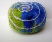 Ocean Swirl Felted Soap from Organic Goats Milk
