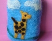 Organic Felted Baby Soap with Giraffe