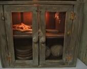 Double Screen Door Pie Safe Kitchen Cupboard Cabinet