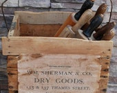 Early Primitive Dry Goods General Store Crate Shopping Basket
