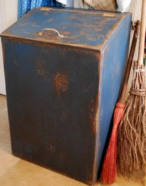 Primitive Garbage Can Trash Bin Cupboard Cover By