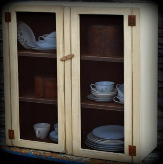 Country Kitchen Cabinet Doors: Primitive Country Farmhouse Cupboard Kitchen By Redroosterbab