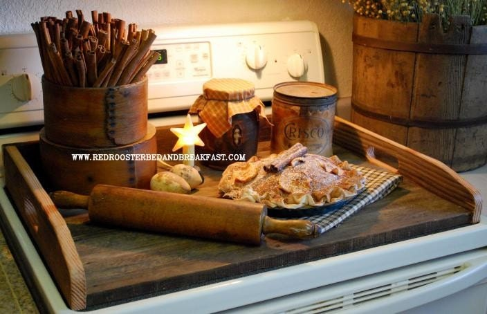 Old Barn Wood Stove Top Cover Noodle Board Tray By