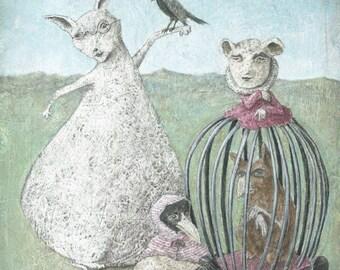 L'Entourage de Mademoiselle Paniers (signed print)