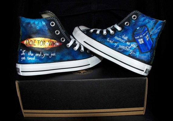 Custom Hand Painted Dr Who Converse