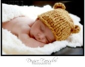 Baby Boy Hat - Organic Chunky Knit Hat in Mustard and Pumpkin