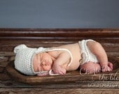 Diaper Cover Photo Prop - Newborn Photo Prop - Baby Boy Photo Prop - Organic Cotton in Snow with Wood Button