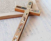 Vintage - Shell and Wood CROSS