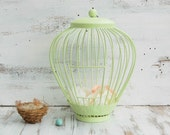 Spring Green BIRDCAGE Shabby Chic Wedding Baby Shower