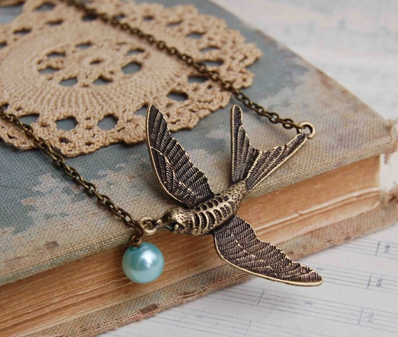 Fly Free  BIRD Necklace