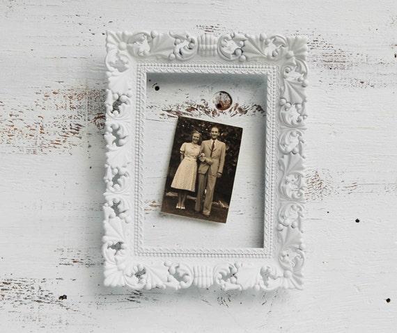 Vintage WHITE FRAME Shabby Chic Cottage