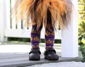 Purple Pumpkins Halloween Baby Leg Waremrs