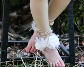 Ivory on Beige Toddler Girls Stockings Tights