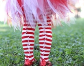 Red and White Striped Christmas Stockings
