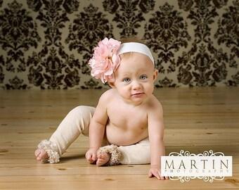 Beige Baby Toddler Fuzzy Legs Leg Warmers