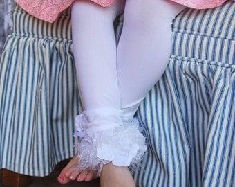 White Toddler Girls Stockings/ Tights