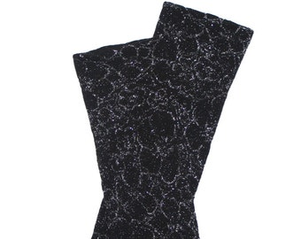 Black and Silver Flower Baby Toddler Leg Warmers