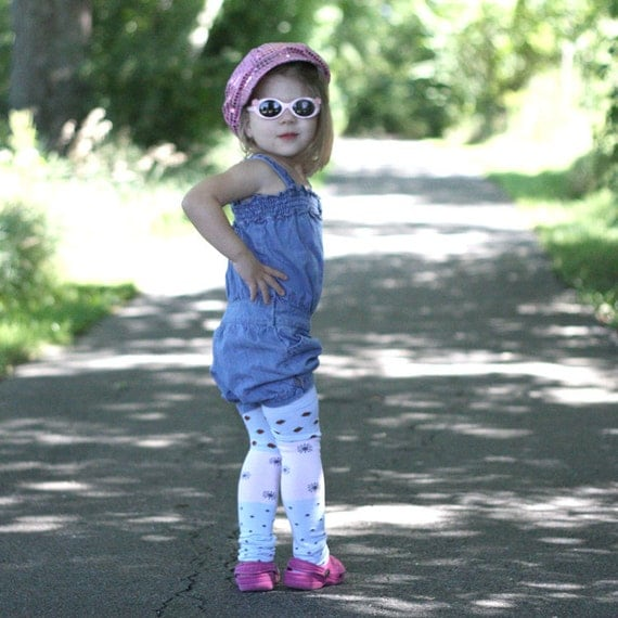 Blue and Pink Berry Sunny Baby Toddler Leg Warmers