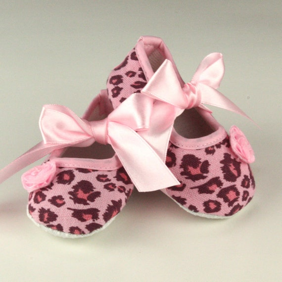 pink leopard baby shoes crib shoes sale free shipping