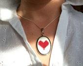 Needlepoint Valentine I Heart You Needlepoint Necklace