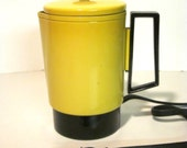 Reserved Vintage Yellow Electric Percolator by Empire