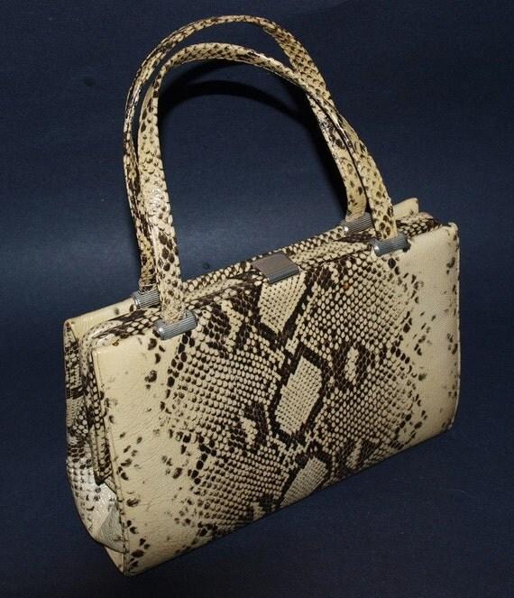 Vintage Andrew Geller - Faux Python Print Handbag