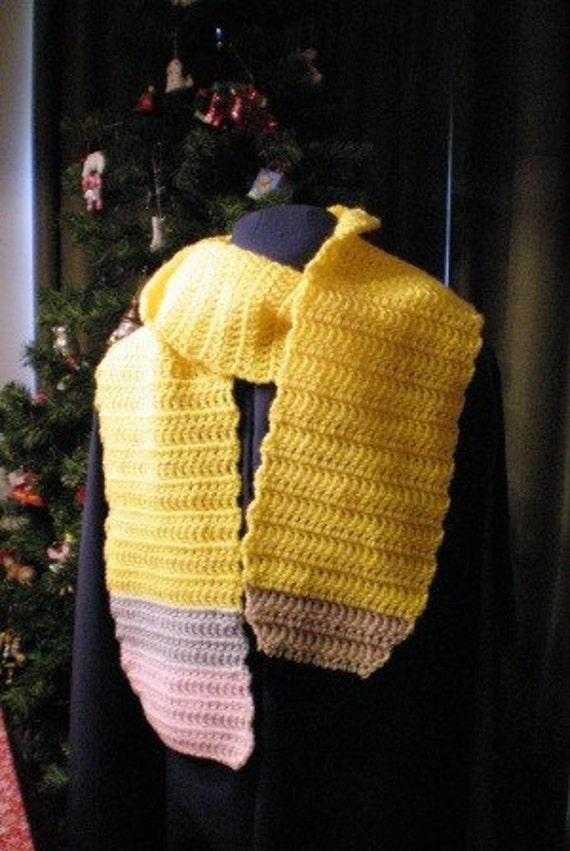 Crochet Pencil Scarf - Great Teacher Gift