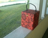 Red and Black flowered box