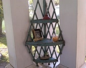 Totally cottage chic corner shelf