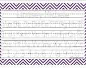 Purple Personalized Activity Placemat, Custom, Dinner Time, Gift, Gift Set, Holidays, Presents, ABC's, Numbers, Practice