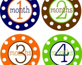 NEW...Personalized Baby Boy Monthly Onesie Sticker- The Evan Design