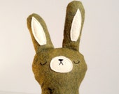 FREE Shipping Code: mail free - SALE - READY to ship - split pea the sleepy woodland spring bunny - easter bunny by SleepyKing