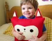 Woodland Fox Plush Pillow - Large - MADE TO ORDER