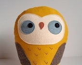 Stuffed owl pillow, giant owl plush, gift idea for kids, owl softie, owl soft sculpture, Herman the giant woodland owl