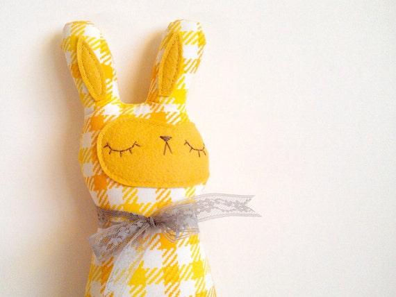 handmade spring bunny plush, Gwendolyn