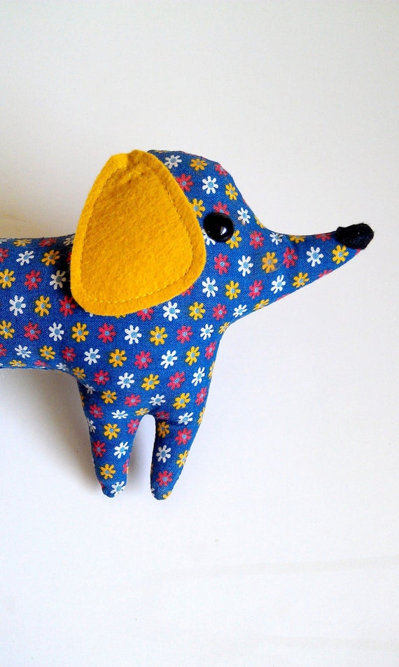 LAST ONE - SALE Daisy the handmade plush dachshund - Rare Limited Edition - made to order