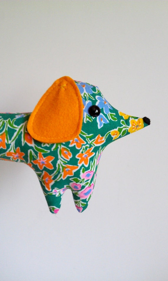 Poppy - the handmade plush dachshund - Limited Edition - Made to Order