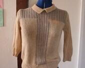 VINTAGE handknit grandma sweater small
