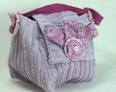 SALE 50% Off Upcycled Purse in Lavendar Ruffles.