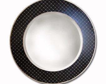 polka dot round mirror frame only