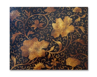 chinoiserie pattern panel