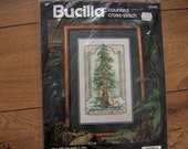 vintage BUCILLA Counted Cross Stitch Kit - Only God Can Make a Tree NIP