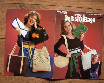 VINTAGE 1980 crochet pattern BAGS and BELTS