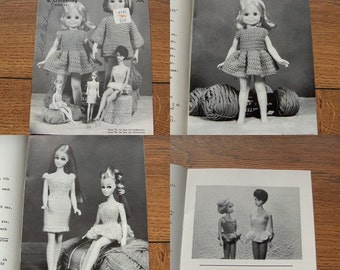 Vintage 1971 Virginia Lakin Knitting Crochet patterns DOLL CLOTHES book 11